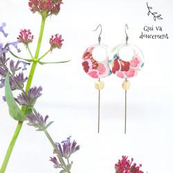 Créoles - bohème rose&kaki