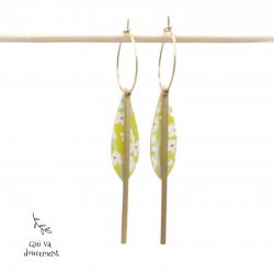 Créoles amandes jaune