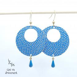 Créoles bleu pastel