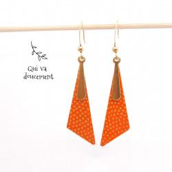 Kazari samekomon orange & doré