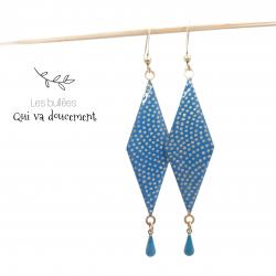 Hishi - Samekomon bleu & doré