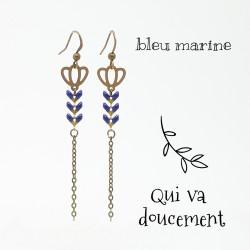 Tulipe bleu marine