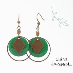 Sequin vert & losange