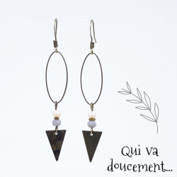 Ovale & Triangle - gris