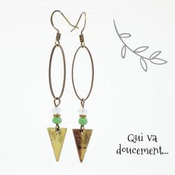 Ovale & Triangle - vert d'eau