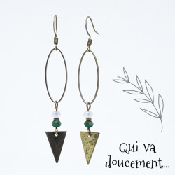 Ovale & Triangle - vert canard