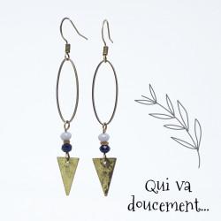 Ovale & Triangle - bleu marine
